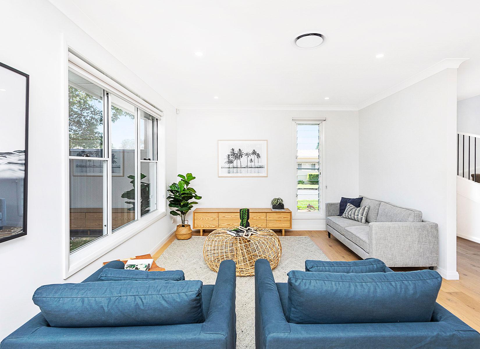 Knockdown Rebuild - Thirroul Living Room